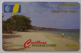 GRENADA - GPT - GRE-51C - Grand Anse Beach - $20 - Used - Grenada