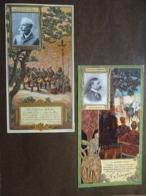 7 Chromos Lefèvre Utile Collection Célébrités LU - Trade Cards