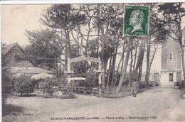 76 SAINTE MARGUERITE Sur MER Phare D'Ailly Etablissement Léon ,terrasse Avec Parassol - France