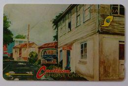 GRENADA - GPT - GRE-4D- Street Scene Gouvyave - $40 - Used - Grenada