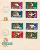 HUNGARY 1968 MEXICO OLYMPIC SET FDC - Briefe U. Dokumente