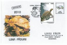 COV 18 - 909 TURTLE, Romania - Cover - Used - 2010 - Tortues