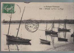 CPA 22 ERQUY Le Port, La Plage - N° 7218 Waron, Voyagée, écriture Plume, Timbrée, DD - Erquy