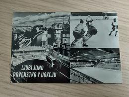 KUT-1- Ljubljana Hokej -World And European Ice Hockey Championships 1966 - Slovénie