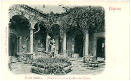PALERMO - Museo Nazionale - Primo Cortile Colla Faontana Del Tritone - Palermo