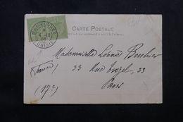 """TUNISIE - Oblitération """" Manœuvres Tunisie """" Sur Carte Postale En 1903 Pour Paris, Affranchissement Plaisant  - L 62832 - Tunisie (1888-1955)"""