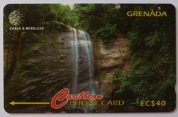 GRENADA - GPT - GRE-287A - Royal Mt. Carmel Waterfalls - $40 - Used - Grenada