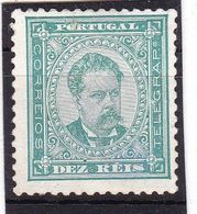 #12023  Portugal 1882,  Stamp 10 R MLH, Michel 55xA:  King  Luiz I.  No Guarantee - 1862-1884 : D.Luiz I