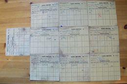 !!! 10 Stück !!! - Ghetto Litzmannstadt / Lodsch / Lodz - Posten Von Milchkarten - 1939-44 - Judaica - Otros