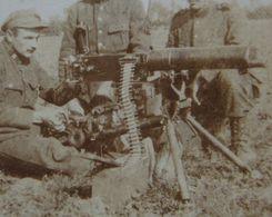 Photo ABL 1914-18 Mitrailleuse Machinegeweer Maxim Machine Gun Belgische Leger Armée Belge Militaria - Guerra, Militares
