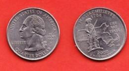 USA, 2000, Circulated Coin , Quarter, Massachusetts, Scannr. C3342 - Federal Issues
