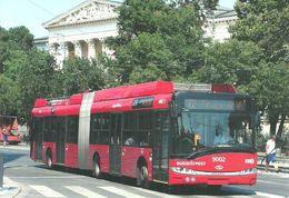 BUS AUTOBUS * TROLLEY TROLLEYBUS * SOLARIS SKODA BKV MUZEUM BOULEVARD BUDAPEST NATIONAL MUSEUM * Top Card 5062 * Hungary - Bus & Autocars