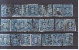Año 1876 Edifil 175 10c Alfonso XII Lote De 24 Sellos Matasellos Varios - Usados