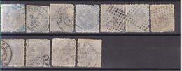 Año 1879 Edifil 204 25c Alfonso XII Lote De 11 Sellos Matasellos Y Color Varios - Usados
