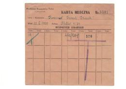 Ghetto Litzmannstadt / Lodsch / Lodz - Milchkarte - 1939-44 - Judaica - Otros