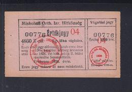 Ungarn Hungary Miskolcz 4800 K Judaika Jew - Ungarn