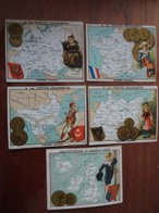 Lot De 15 Chromos Cartes Géographiques - Other