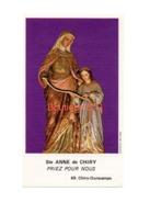 Image Pieuse Religion Croyance Sainte Anne Chiry Priere Mere Jesus Marie Ourscamps - Devotion Images