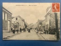 MERY Sur OISE SOGNOLLES 95 - RARE. Rue De Paris Monroy édit. - Mery Sur Oise