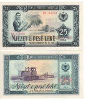 ALBANIA   25 Leke     P37a  1964     UNC - Albanie