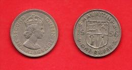 MAURITIUS , 1956-1978, Circulated Coin, 1 Rupee, QEII, Copper Nickel, Km35.1, C1611 - Maurice