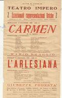 VARESE   LOCANDINA  TEATRO  IMPERO --CARMEN--   ANNI  50 - Posters