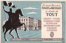 Buvard Banque De Bruxelles Le Service Titres - Bank & Insurance