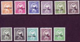 #L89 Great Britain Lundy Stamp 1989 60th Anniversary Lundy Post O/p Inc 15p Set - Emissione Locali