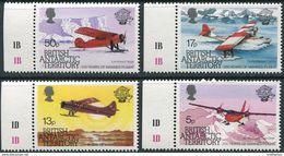 BAT 1983. Michel #104/07 MNH/Luxe. 200 Years Of Aviation. Airplanes. Antarctica (Ts21/27) - Tratado Antártico