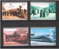 Norge Norway  2004 150 Years Of Railroad In Norway, Train, Locomotives, Station Koppang, Mi 1507-1510, MNH(**) - Norwegen