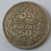 Liban - 50 Piastres 1952 - Argent - - Libanon