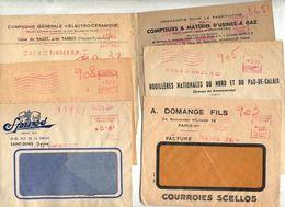 Lot 39  Lettres Flamme Ema Muette Entete Entreprise à Voir - Postmark Collection (Covers)