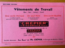 1 BUVARD VETEMENTS DE TRAVAIL CREPIER - Textilos & Vestidos