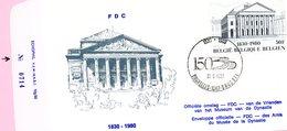 1983 = Timbre BF 55 (150 Ans Indépendance) Sur Enveloppe Officielle FDC Numérotée 0714 Cachet Bruxelles 1040 Brussel - FDC