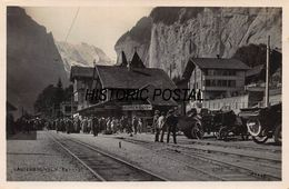 LAUTERBRUNNEN SWITZERLAND~MURREN BAHNHOF~1910s PHOTO POSTCARD 46801 - BE Bern