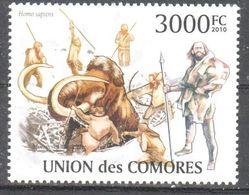 Comores - Hunting - Prehistoric Man - Mammoth - MNH - Ohne Zuordnung