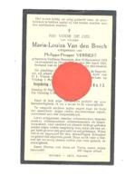 Doodsprentje Mvr Maria-Louiza VAN DEN BOSCH, Echt. Van P. Verbiest - VELTHEM-BEYSSEN 1903 / DIEGHEM-LOO 1931 - Todesanzeige