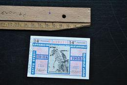 LOTERIE COLONIALE 1955 KOLONIALE LOTERIJ 14e 14de Tranche  1/10 11 FR Régionalisme Colonies Belgisch Congo Belge Ticket - Billets De Loterie