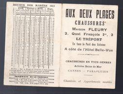 Le Tréport (76 Seine Maritime) Horaire Des Mares + Horaire Trains Paris Par Beauivais + Pubs (PPP23033) - Europe