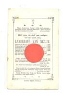 Doodsprentje - Lambertus VAN NERUM, Priester - WEVER 1823/THILDONCK/TILDONK 1870 - Alsemberg, St Peeters-Leeuw - Todesanzeige
