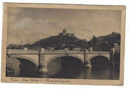 CL330 -  TORINO PONTE UMBERTO I E MONTE DEI CAPPUCCINI 1931 - Bridges