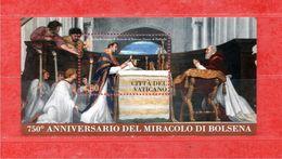 (Ni) VATICANO ** - 2013 -  MIRACOLO Di BOLSENA.  Unif. BF. 77. MNH ** - Blocchi E Foglietti