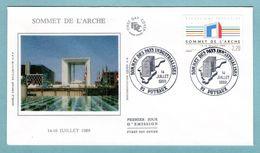 FDC France 1989 - Sommet De L'Arche - YT 2600 - 92 Puteaux - FDC
