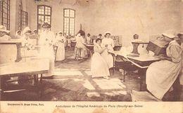 Neuilly Sur Seine Lycée Pasteur Hôpital Américain Ambulance Tampon Blessé Militaire Franchise - Neuilly Sur Seine