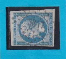 N° 14 B  - PC 3847  -  AIGREFEUILLE DE SAINTONGE    ( 16 )  CHARENTE INFre    -  REF 123-413 + Variété-ind 13-cote 100€ - 1853-1860 Napoléon III