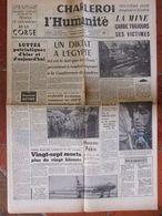 Journal L'Humanité (11 Août 1956) Catastrophe Minière Charleroi - Diktat Egypte - Usine Fouga - Luttes Patriotiques - 1950 - Oggi