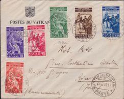 Vaticano - 670 * Lettera R/ta Dalla Città Del Vaticano Del 25.2.35 Per Forlì, Affrancata Con Congresso Giuridico Interna - Vatican