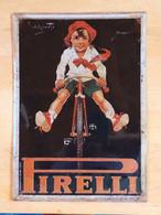 Targa In Metallo - Pirelli 1930 - Plaques De Rallye