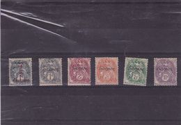 ANDORRE FRANCAISE : Timbres De France 1900-1927 Surchargés  :Y&T : 1* à 6* - Andorra Francesa