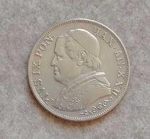 Stato Pontificio Pio IX 1 Lira 1868 R Anno XXII - Vaticano